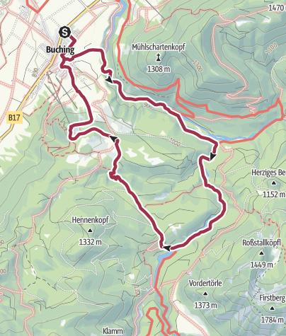 Karte / Buchenbergrunde
