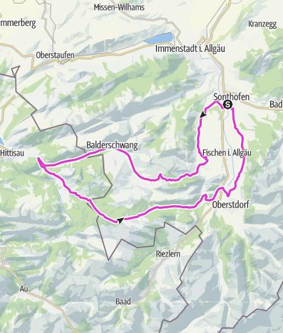 Karte / Balderschwang_Rohrmoos