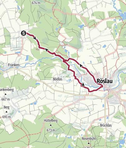 Karte / Grub - Egerfall - Röslau - Grub