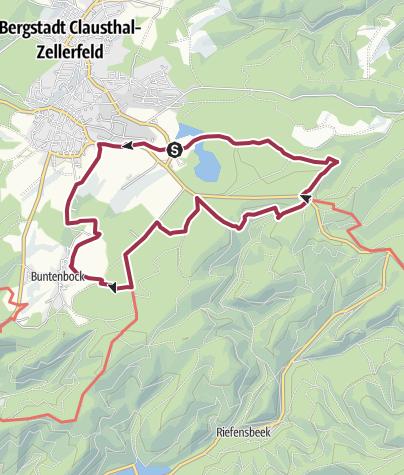 Karte / Harzer Wandernadel Stempeltour 137, 128 und 127
