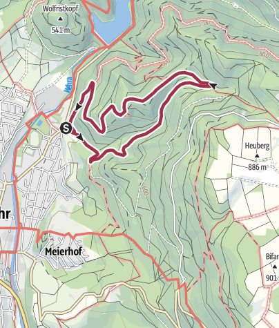 Karte / Wehr: Burgerlebnispfad Bärenfels