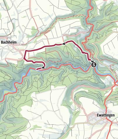 Karte / Umleitung Erdrutsch am Kanadiersteg