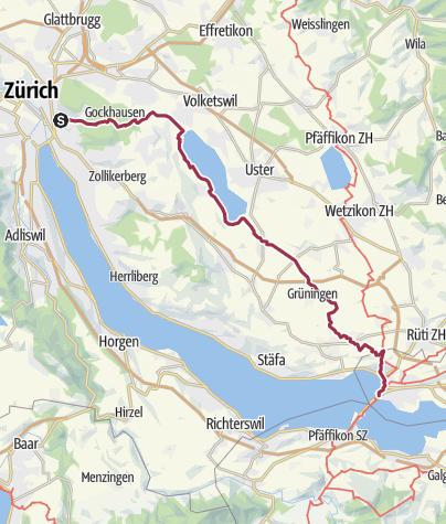Map / Zurich - Rapperswil