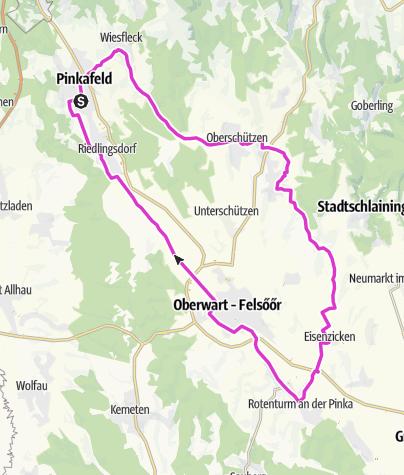 Karte / Tour 04: Pinkafeld - Bad Tatzmannsdorf - Rotenturm