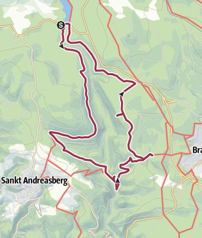 Karte / Harzer Wandernadel Stempeltour 155, 123, 148 und 75