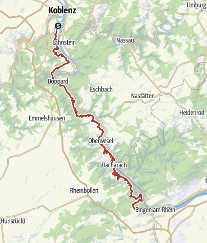 Map / Rhein castles hiking trail