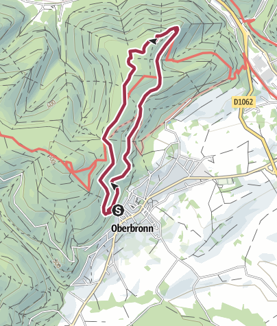 Karte / Vom Ferienhaus in Oberbronn zur Wasenburg