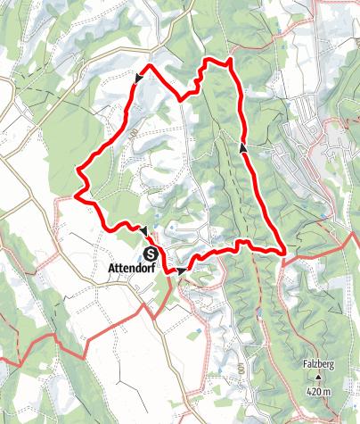Karte / Attendorfer Rundweg Nr.41 Teilabschnitt Mitte