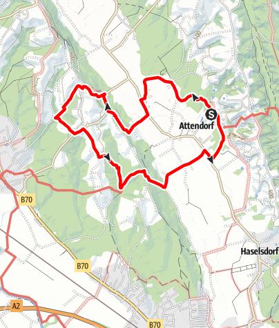 Karte / Attendorfer Rundweg Nr.41  Teilabschnitt West