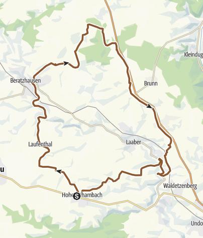 Karte / Windrädertour um Unterlichtenberg A3 kurz