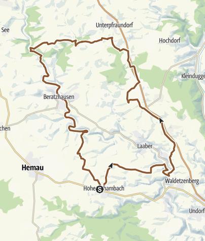 Karte / Windrädertour um Unterlichtenberg A3