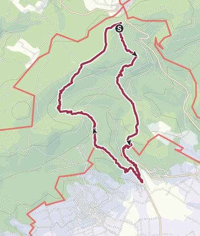 Map / Förster Bitter Eiche zum Kloster Eberbach und zurück