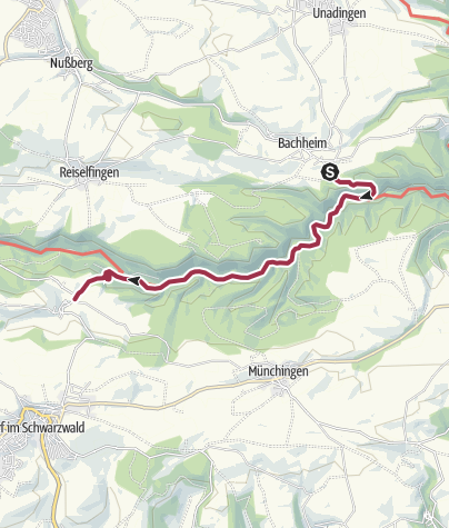 Map / Bachheim - Wutachschlucht - Boll