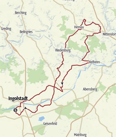 Karte /  11. Juni 2016 Regentour bei der Abfahrt zur Friesenmühle bei Beratzhausen