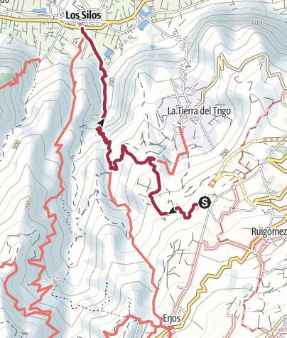 Map / Los Silos from Rosa Vieja