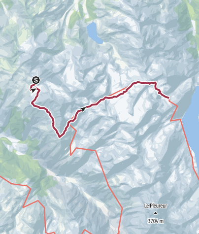 Map / WHR Stage 6 Cabane du Mont Fort – Col Termin – Col de Louvie – Col de Prafleuri – Cabane de Prafleuri