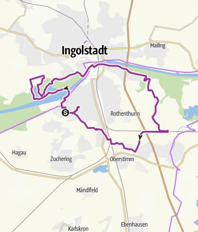 """Karte / 14. Juni 2016 Ingoradler Nachmittagsmittagstour """"zum Gemüsehof Humbold Unsernherrn """""""