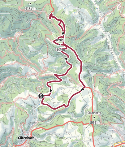 Map / Auf zum Brendturm und ab zum Günterfelsen!
