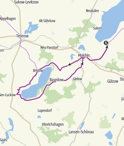 Radweg Mecklenburgische Seenplatte Karte.Mv Schlössertour Um Den Malchiner See Radtour Outdooractive Com