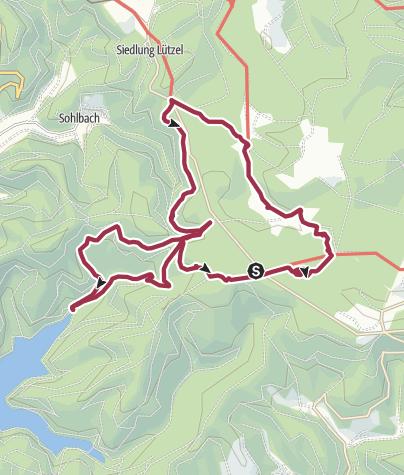 Karte / Über den Kyrillpfad, die Obernautalsperre zum Forsthaus Hohenhorst
