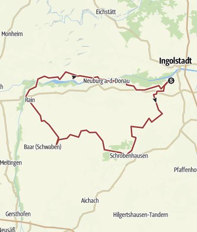 Karte / 22. Juni 2016 Rollertour durch Moos - zurück über Rain am Lech