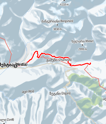 Map / Georgia- Mestia-Zhabeshi