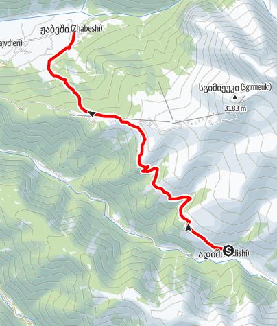 Map / Georgia-trek-Zhabeshi-Adishi