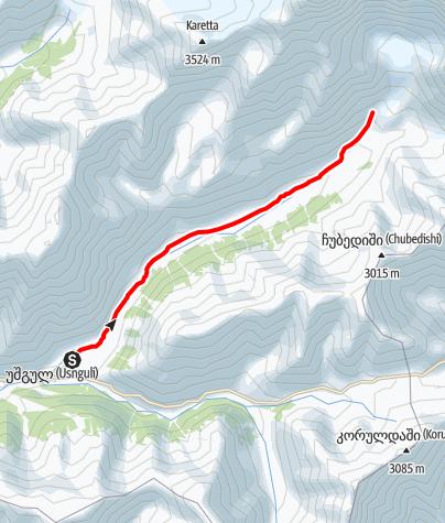 Map / Georgia-Ushgili-Glacier View point