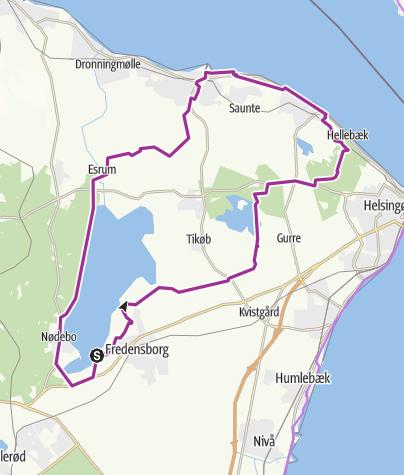 Map / Fredensborg-Hellebæk-Hornbæk-Fredensborg