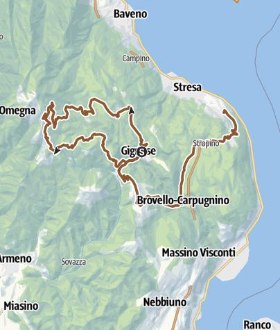 Karte / Gignese-> Mottarone->Gignese-> Stresa