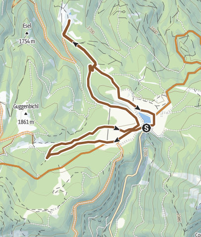Karte / Passo Lavazè - Malga Varena - Malga Costa