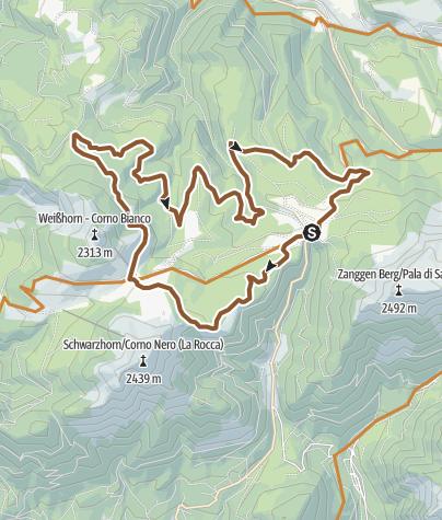 Karte / Lavazè, Oclini, Neuhutte, malga Costa