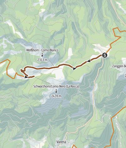 Map / Lavazè, Oclini, Gurndin, Isi-Hutte