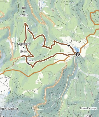 Map / Passo Lavazè-malga Ora