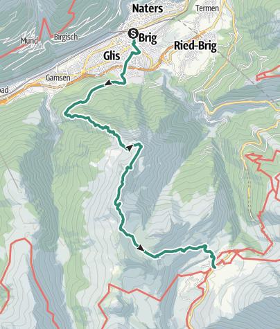 Map / Überschreitung von Glishorn, Fülhorn und Spitzhorli