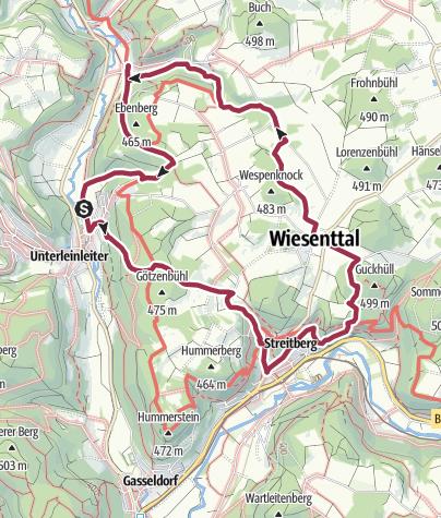 Karte / Rundwanderweg : Unterleinleiter - Streitberg