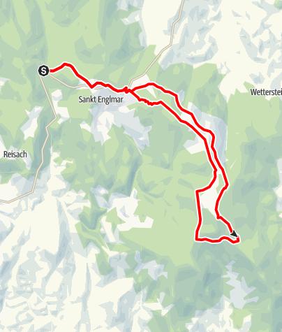 Karte / Hirschenstein von Grün