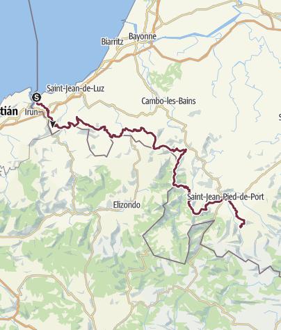 Karte / GR10-Pyrenäenfernwanderweg-Abschnitt A