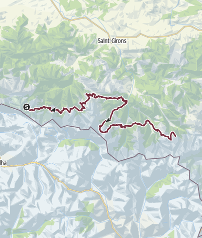 Karte / GR10-Pyrenäenfernwanderweg-Abschnitt F