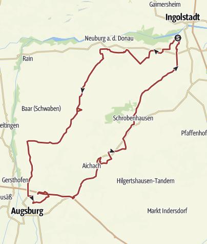 Karte /  1. Juli 2016 Rollerausfahrt nach Dasing am Freitag