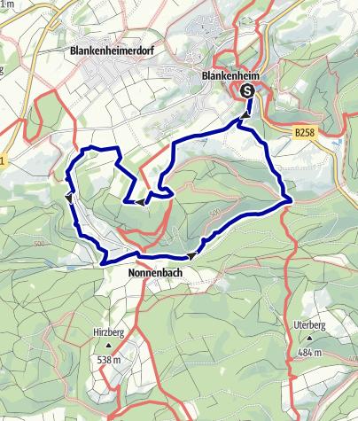 Karte / Zu Russengrab und Süntelbuche bei Blankenheim