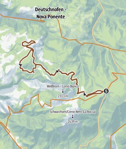Karte / Passo Lavazè - Monte San Pietro - Petersberg