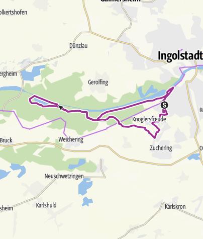 Karte /  5. Juli 2016 Ingoradler Vormittagstour Donauauen