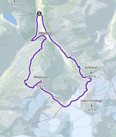 Karte / Pitztaler Gletscher Trailrun