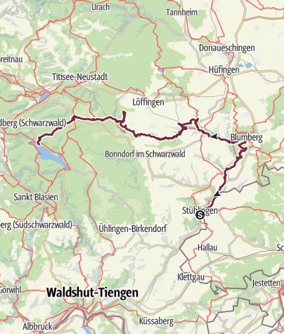 Karte / Schluchtenstieg von Stühlingen bis zum Schluchtsee
