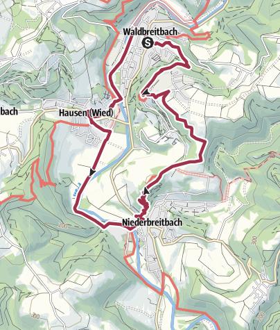 Karte / Wiedtaler Wandertag 2016 - Tour 1