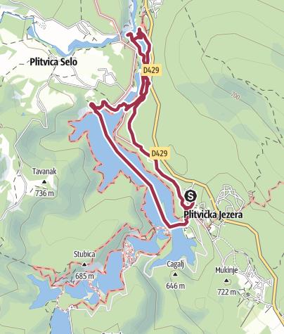 Nationalpark Plitvicer Seen Karte.Plitvicer Seen Zum Grossen Wasserfall Wanderung