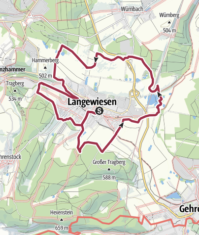 Map / Rundwanderweg Langewiesen