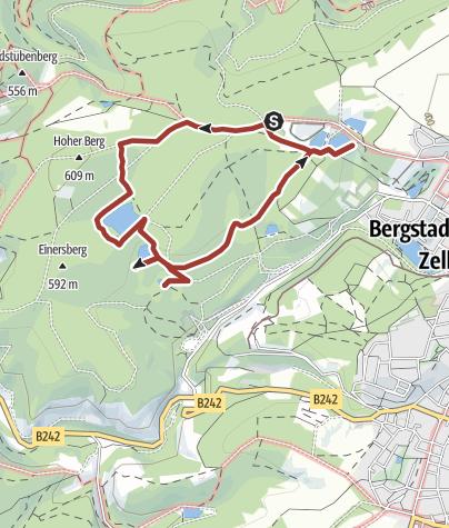 Karte / Creativ-Art-Pfad an den Einersberger Teichen.