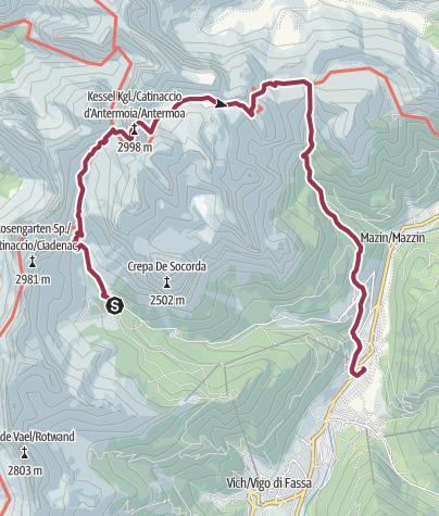 地图 / Giro dell'Antermoia (Cima e Lago)